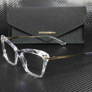 Dolce & Gabbana Crystal Stunning 53mm Eyeglasses